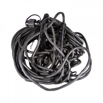 Кабель 1,6м+4х3,2м черный дополнительный + соединители на 5 веток System 24 IP44 outdoor