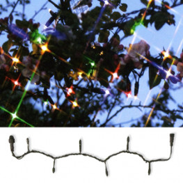 Гирлянда цепочка 10м разноцветная кабель черный дополнительная 98диодов LED System 24 outdoor