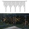 Гирлянда дождь 2х1м теплобелая кабель черный дополнительная 98диодов LED System 24 outdoor