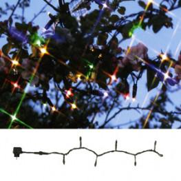 Гирлянда цепочка 10м разноцветная кабель черный 5м стартовая 98диодов LED System 24 outdoor