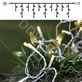 Гирлянда дождь 4х0,4м теплобелая кабель белый 10м 140диода LED outdoor
