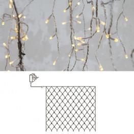 Гирлянда сетка 3х3м теплобелая кабель прозрачный 10м 180диодов LED outdoor