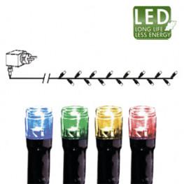 Гирлянда цепочка 4,0м разноцветная кабель черный 10м 40диодов LED outdoor