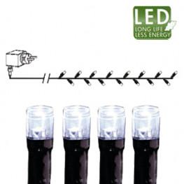 Гирлянда цепочка 16м -холоднобелая кабель черный 10м 160диодов LED outdoor