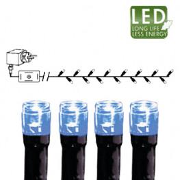 Гирлянда цепочка 7,0м голубая кабель черный 10м 120диодов 8функций LED outdoor