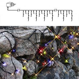Гирлянда дождь 4х0,4м разноцветная кабель черный 10м 144диода LED outdoor