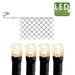 Гирлянда сетка 2х1м теплобелая кабель черный 10м 90диодов LED outdoor