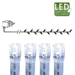 Гирлянда цепочка 16м -холоднобелая кабель прозрачный 10м 160диодов LED outdoor