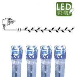 Гирлянда цепочка 16м -голубая кабель прозрачный 10м 160диодов LED outdoor