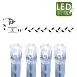 Гирлянда цепочка 7,0м холоднобелая кабель прозрачный 10м 120диодов 8функций LED outdoor