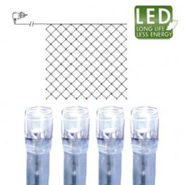 Гирлянда сетка 3х3м холоднобелая кабель прозрачный 10м 180диодов LED outdoor
