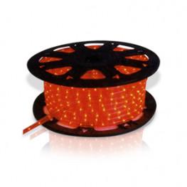 Гирлянда роуп лайт (дюралайт) 45м красная кабель черный 1,8м стартовая Ropelight d12,5мм бухта 36диодов/м MICRO outdoor