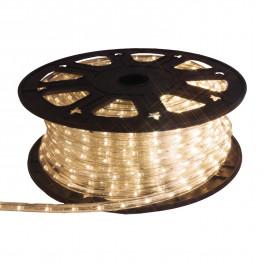 Гирлянда роуп лайт (дюралайт) 45м теплобелая кабель черный 1,8м стартовая Ropelight d12,5мм бухта 36диодов/м LED outdoor