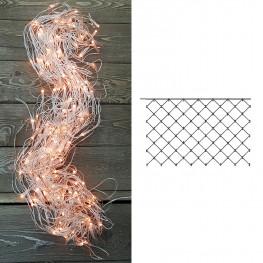 Гирлянда сетка 2х1,5м теплобелая кабель прозрачный 10м 160ламп MICRO outdoor