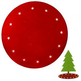 Коврик под елку красный d100см