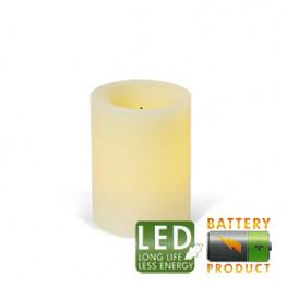 Свеча светильник LED d 7,5x10см меняющая цв таймер батарей