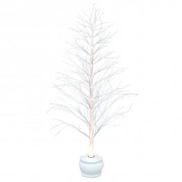 Декорация зимнее дерево бел 1,2м с мерцанием