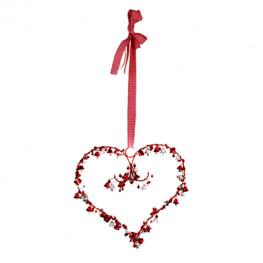 Декорация светодиодная Сердце с колокольчиками 15диодов