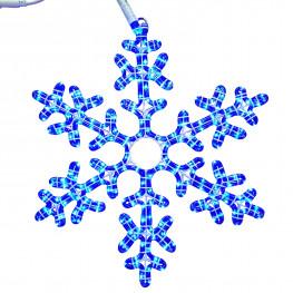 Декорация светодиодная Снежинка 0,5м голубая