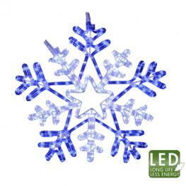 Декорация светодиодная Снежинка 0,5м голубая/холоднобелая