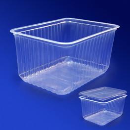 Контейнер пластиковый 1500мл PP прозрачный 18х13х9,5см