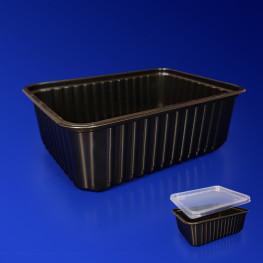 Контейнер пластиковый 1000мл PP черный 18х13х6,5см