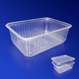 Контейнер пластиковый 1000мл PP прозрачный 18х13х6,5см