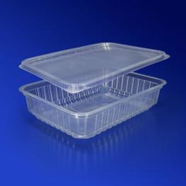 Контейнер пластиковый 500мл PP прозрачный с крышкой 18х13х3,5см