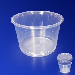 Контейнер пластиковый 250мл PP прозрачный d9,5х5,8см