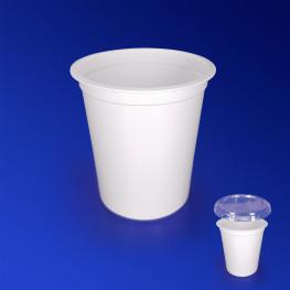 Контейнер пластиковый 200мл PP белый d7,5х5,8см