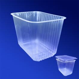 Контейнер пластиковый 2000мл PP прозрачный 18,6х13,2х12 8см