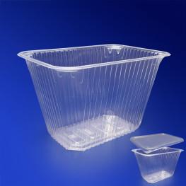 Контейнер пластиковый 1500мл PP прозрачный 18,6х13,2х9,5см