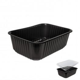 Контейнер пластиковый 1000мл PP черный 18,6х13,2х6,5см