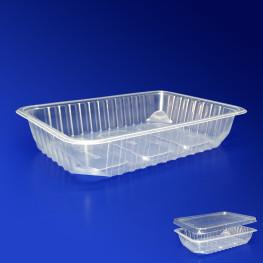 Контейнер пластиковый 500мл PP прозрачный 18х13х3,5см