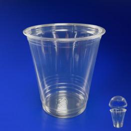 Стакан пластиковый PET 300мл прозрачный d9,5см 50 шт/уп