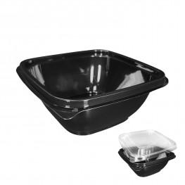 Контейнер пластиковый 375мл PET черный 12,6х12,6х5,1см 500шт/кор