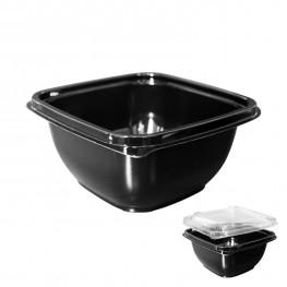 Контейнер пластиковый 500мл PET черный 12,6х12,6х6,0см 500шт/кор