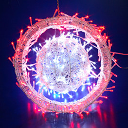 Декорация светодиод Шар d20см с кольцом
