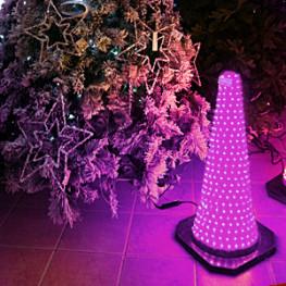 Декорация электр Конус светящийся розовый (564-06)