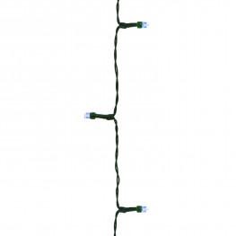 Гирлянда 20м холоднобелая Алмазные огни кабель зеленый 5м 200диодов LED 8 функций 8ч таймер outdoor