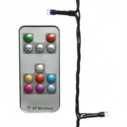 Гирлянда 20м меняющая цвета кабель зеленый 5м ПДУ 200диодов LED outdoor