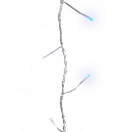 Гирлянда цепочка 27м голубая кабель прозрачный 3м 8функций 360диодов LED outdoor