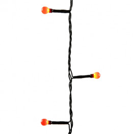 Гирлянда цепочка 13,5м красная мигающая кабель черный 5м 8функций 180диодов LED outdoor