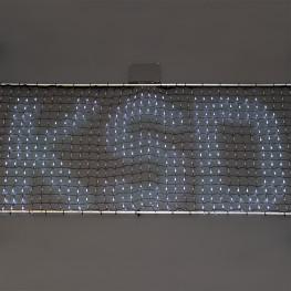 Гирлянда сетка 2,30x0 75м холоднобелая Бегущая строка 768диодов LED outdoor