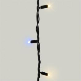 Гирлянда цепочка 10м теплобелая кабель черный 100диодов LED outdoor