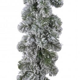 Гирлянда еловая 2,7м заснеженная пушистая Императорская d0,25м 190веток 100%PVC