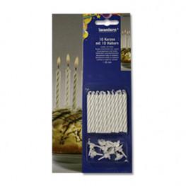 Свеча для торта d6,5мм 10шт/уп Kg