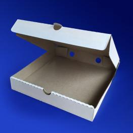 Пицца-коробка гофра 25х25х4см 50шт/уп белая