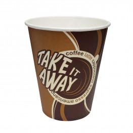 Стакан бумажный 165мл для горячих напитков Coffee take away 50 шт/уп