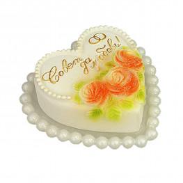 Свеча Свадебная Совет да любовь d11,5см h5,5см белая